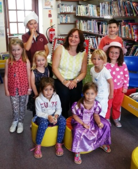 Wendy in Ammanford Library