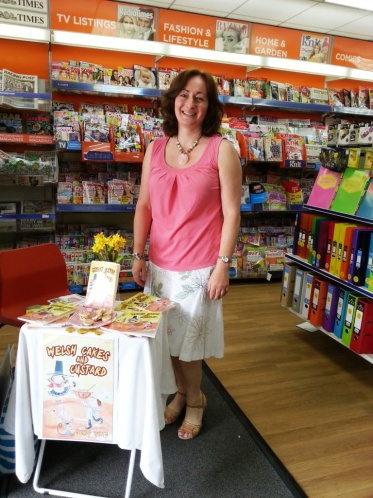 Wendy White at WHSmith in Barry