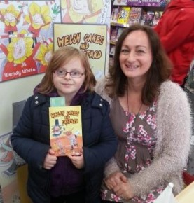 Wendy & Megan in WHSmith, Llanelli